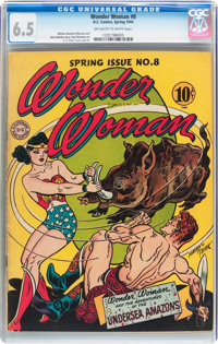 Wonder Woman #8 (DC, 1944) CGC FN+ 6.5 Off-white to white pages
