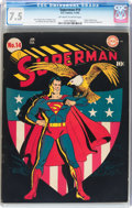 Golden Age (1938-1955):Superhero, Superman #14 (DC, 1942) CGC VF- 7.5 Off-white to white pages....