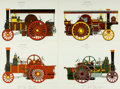 Books:Prints & Leaves, [Steam Engines]. Group of Eleven Reproduction Prints DepictingVarious Steam Engine Designs. [N.p., n.d.]. ...