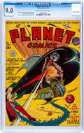Golden Age (1938-1955):Science Fiction, Planet Comics #7 (Fiction House, 1940) CGC VF/NM 9.0 Cream tooff-white pages....