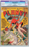 Golden Age (1938-1955):Science Fiction, Planet Comics #15 (Fiction House, 1941) CGC Conserved GD+ 2.5 Whitepages....