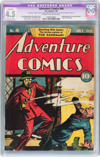 Adventure Comics #40 (DC, 1939) CGC Apparent VG+ 4.5 Extensive (B-5) Cream to off-white pages