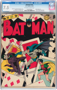 Batman #11 (DC, 1942) CGC VF- 7.5 Off-white to white pages