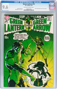 Green Lantern #76 (DC, 1970) CGC NM+ 9.6 Off-white to white pages