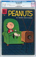 Silver Age (1956-1969):Humor, Four Color #878 Peanuts 15¢ Price Variant (Dell, 1958) CGC VF- 7.5 Off-white pages....