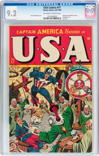 USA Comics #17 (Timely, 1945) CGC NM- 9.2 Off-white to white pages