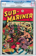 Golden Age (1938-1955):Superhero, Sub-Mariner Comics #13 Rockford pedigree (Timely, 1944) CGC VF/NM 9.0 Cream to off-white pages....