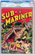 Golden Age (1938-1955):Superhero, Sub-Mariner Comics #11 Rockford pedigree (Timely, 1943) CGC NM- 9.2 Off-white pages....