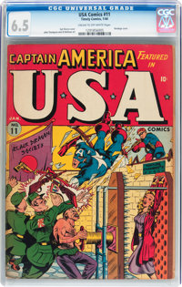 USA Comics #11 (Timely, 1944) CGC FN+ 6.5 Cream to off-white pages