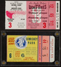 Baseball Collectibles:Tickets, 1959 World Series Ticket Stubs Lot of 2....