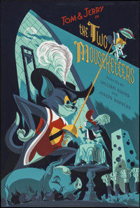 Tom and Jerry in The Two Mousketeers by Anne Benjamin (Mondo, 2015). Numbered Limited Edition Screen Print Poster (24&qu...