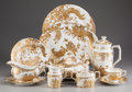Ceramics & Porcelain, British:Contemporary   (1950 to present)  , A Forty-Six Piece Royal Crown Derby Aves Gold PatternPorcelain Service for Eight, Derby, England, late 20th cen...(Total: 46 Items)