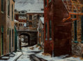 Fine Art - Painting, American:Contemporary   (1950 to present)  , Antonio P. Martino (American, 1902-1988). Manayunk Bridge andStreet. Oil on canvas. 30 x 40 inches (76.2 x 101.6 cm). S...