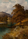 Fine Art - Painting, European:Antique  (Pre 1900), Harry Pennell (British, 1859-1940). A Quiet River Scene NearBarmouth. Oil on canvas. 36 x 28-1/2 inches (91.4 x 72.4 cm...