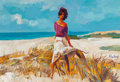 Fine Art - Painting, European:Contemporary   (1950 to present)  , Nicola Simbari (Italian, 1927-2012). Beach Breeze. Acrylicon canvas. 27-1/2 x 39-1/2 inches (69.9 x 100.3 cm). Signed c...