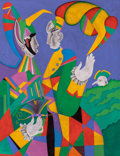 Fine Art - Painting, European:Contemporary   (1950 to present)  , Mihail Chemiakin (Russian, b. 1943). Carnival at St.Petersburg, 1990. Oil on canvas. 45 x 34-3/4 inches (114.3 x88.3 c...