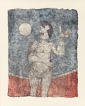 Prints, Rufino Tamayo (Mexican, 1899-1991). La Luna Llena (from Tamayo 90 Aniversario), 1989. Lithograph in colors on wove p...