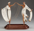 Sculpture, Erté (Romain De Tirtoff) (Russian/French, 1892-1990). The Wedding, 1986. Bronze with polychrome. 16-1/2 inches (41.9 cm)...