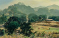 Fine Art - Painting, American:Modern  (1900 1949)  , Emil Jean Kosa, Jr. (French/American, 1903-1968). GatheringDusk. Oil on canvas. 20 x 30 inches (50.8 x 76.2 cm). Signed...