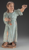 Decorative Arts, Continental:Other , A Spanish Colonial Polychrome Figure of the Christ Child, 18thcentury. 25 inches high (63.5 cm). PROPERTY FROM A PASADENA...