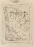 Fine Art - Painting, American, Louise Michel Eilshemius (American, 1864-1941). Nude (twoworks). Pen and pencil on stationery, each. 9 x 7 inches (22.9...(Total: 2 Items)