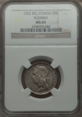 Belgian Congo, Belgian Congo: Belgian Colony - Albert 50 Centimes 1922 MS65NGC,...