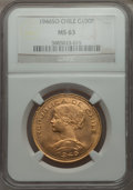 Chile, Chile: Republic gold 100 Pesos 1946 MS63 NGC,...