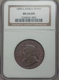 South Africa: Republic Penny 1898 MS64 Brown NGC