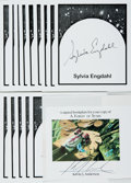 Books:Fine Press & Book Arts, [Bookplates]. Collection of Fifteen SIGNED Bookplates. Includesfourteen signed by Sylvia Engdahl and one signed by ...