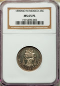Mexico, Mexico: Republic Prooflike 25 Centavos 1890 Mo-M MS65 PL NGC,...