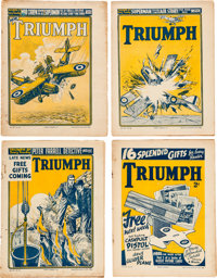 Triumph with Superman Appearances Story Paper Group of 4 (Amalgamated Press UK, 1939) Condition: Average GD+.... (Total:...