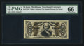 Fractional Currency:Third Issue, Fr. 1324 50¢ Third Issue Spinner PMG Gem Uncirculated 66 EPQ.. ...