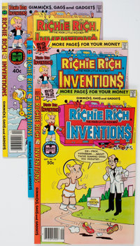 Richie Rich Inventions File Copies Group of 58 (Harvey, 1977-82) Condition: Average NM-.... (Total: 58 Comic Books)
