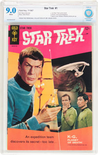 Star Trek #1 (Gold Key, 1967) CBCS VF/NM 9.0 White pages