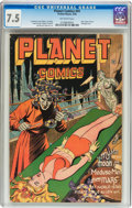 Golden Age (1938-1955):Science Fiction, Planet Comics #41 (Fiction House, 1946) CGC VF- 7.5 Off-whitepages....