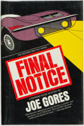 Books:Mystery & Detective Fiction, Joe Gores. Final Notice: A DKA File Novel. New York: Random House, [1973]. First edition. ...