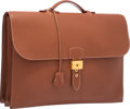 Luxury Accessories:Bags, Hermes 40cm Etrusque Fjord Leather Sac a Depeches Double GussetBriefcase Bag with Gold Hardware . Very Good Condition ...