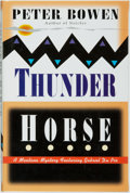 Books:Mystery & Detective Fiction, [Presentation Copy]. Peter Bowen. INSCRIBED. Thunder Horse.New York: St. Martin's Press, [1998]. First edition. ...