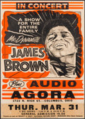"Music Memorabilia:Posters, James Brown ""Mr. Dynamite"" 1977 Concert Poster for the Agora inColumbus, Ohio, in Framed Display. ..."