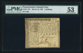 Colonial Notes:Pennsylvania, Pennsylvania March 10, 1769 5s PMG About Uncirculated 53.. ...