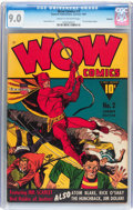 Golden Age (1938-1955):Superhero, Wow Comics #2 Rockford pedigree (Fawcett Publications, 1941) CGC VF/NM 9.0 Cream to off-white pages....