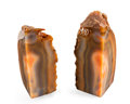 Lapidary Art:Carvings, AGATE BOOKENDS. Rio Grande do Sul. Brazil. 7.08 x 6.37 x 2.87inches (18 x 16.2 x 7.3 cm). ... (Total: 2 Items)