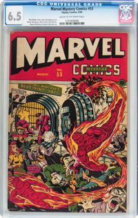 Marvel Mystery Comics #53 (Timely, 1944) CGC FN+ 6.5 Cream to off-white pages