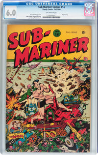 Sub-Mariner Comics #14 (Timely, 1944) CGC FN 6.0 Off-white pages