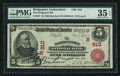 National Bank Notes:Connecticut, Bridgeport, CT - $5 1902 Red Seal Fr. 587 The Bridgeport NB Ch. # (N)910. ...