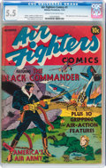 Golden Age (1938-1955):War, Air Fighters Comics #1 (Hillman Fall, 1941) CGC FN- 5.5 Cream tooff-white pages....