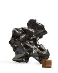 Minerals:Cabinet Specimens, Tetrahedrite. Locality Unkown. 4.80 x 4.33 x 0.69 inches (12.20x 11.00 x 1.76 cm). ...