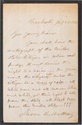 Autographs:Celebrities, Susan B. Anthony Autograph Letter Signed....