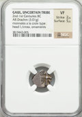 Ancients:Celtic, Ancients: GAUL. Region of Toulouse. Unknown tribe. Ca. 2nd-1stcenturies BC. AR drachm (3.01 gm)....
