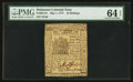 Colonial Notes:Delaware, Delaware May 1, 1777 10s PMG Choice Uncirculated 64 EPQ.. ...